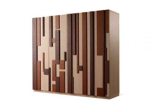 Armadio moderno / in legno / in legno laccato / con porta battente MODULAR by Ferruccio Laviani Emmemobili Tagliabue Daniele di L. Tagliabue