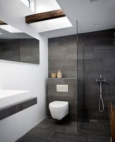 timber tiles in grey bathroom - Google Search