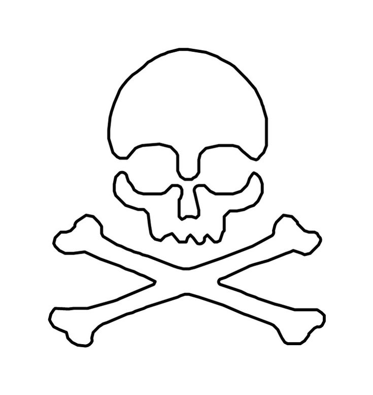 Skull And Crossbones Stencil Tattoo - ClipArt Best - ClipArt Best