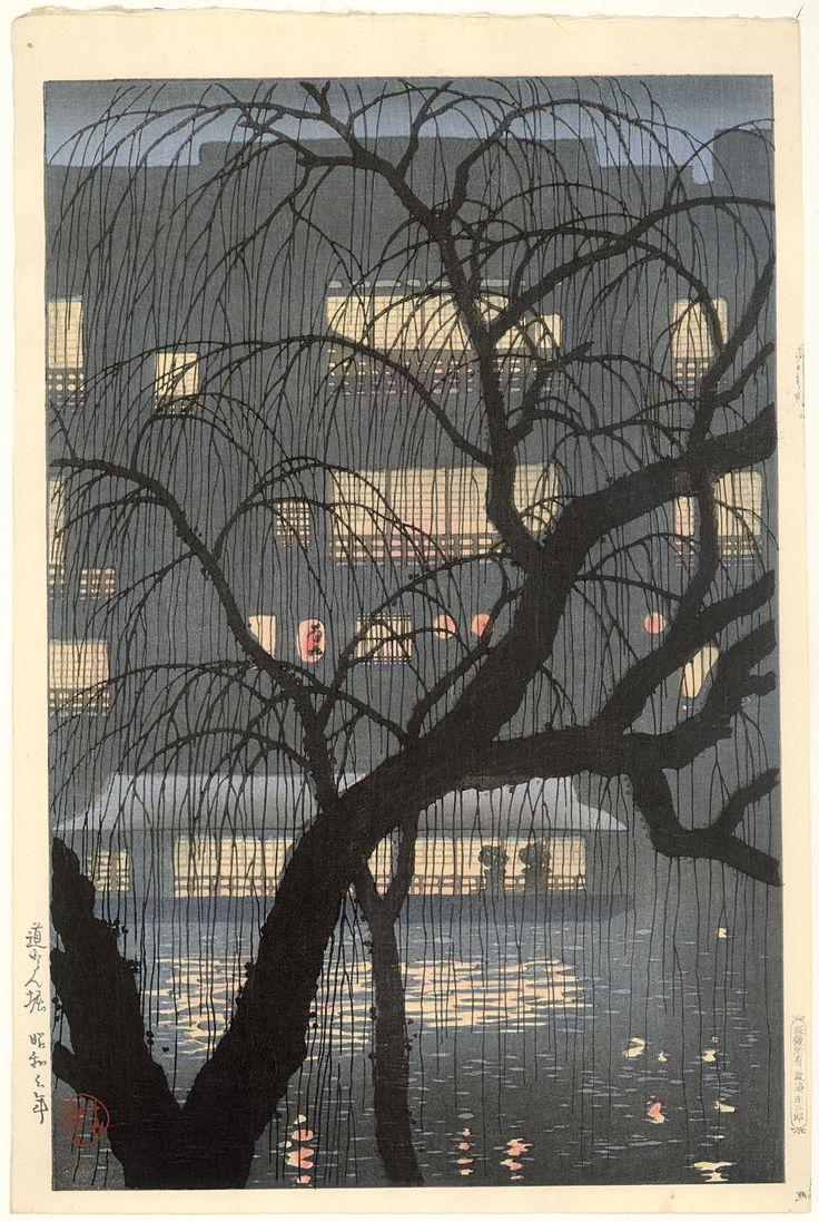 DŌTONBORI, Uehara Konen (1878-1940). Kleurenhoutsnede op papier, 1928, P0762. Elise Wessels Collection – Nihon no hanga