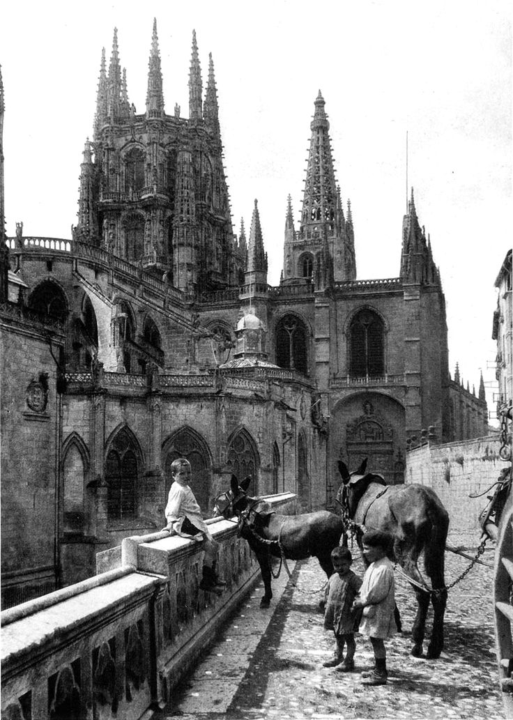 Burgos Cathedral, Spain, 1922 by M.E. Newman