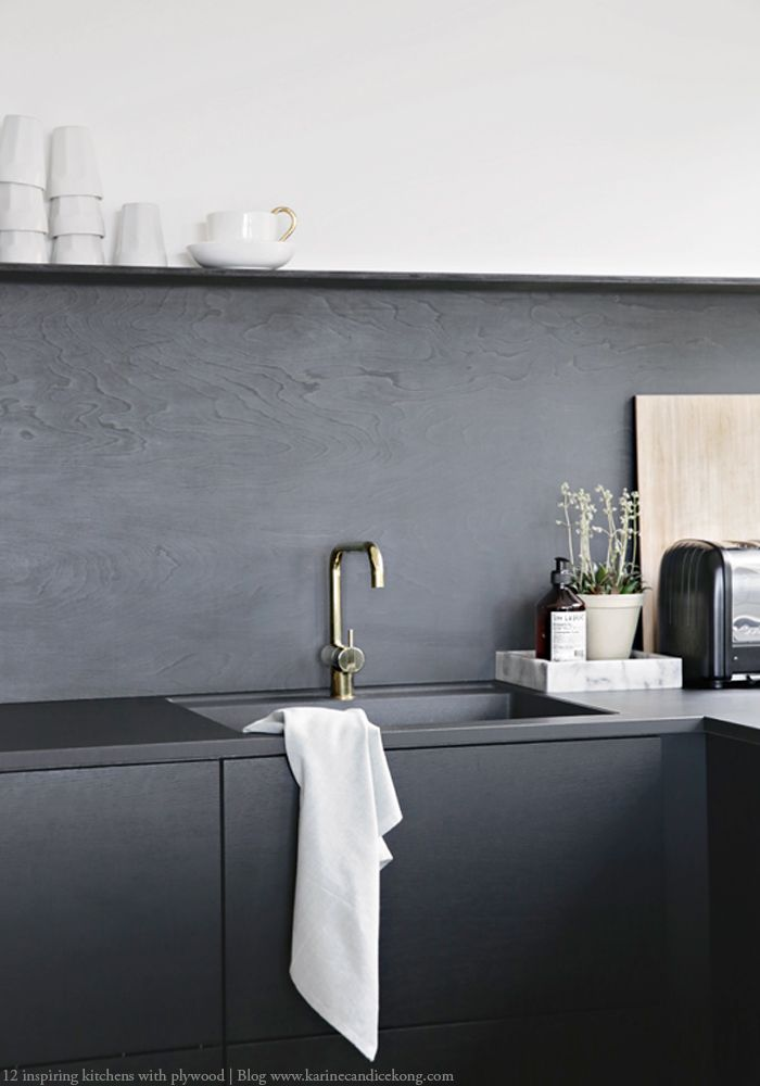 Black plywood: How to create a high-end designer kitchen
