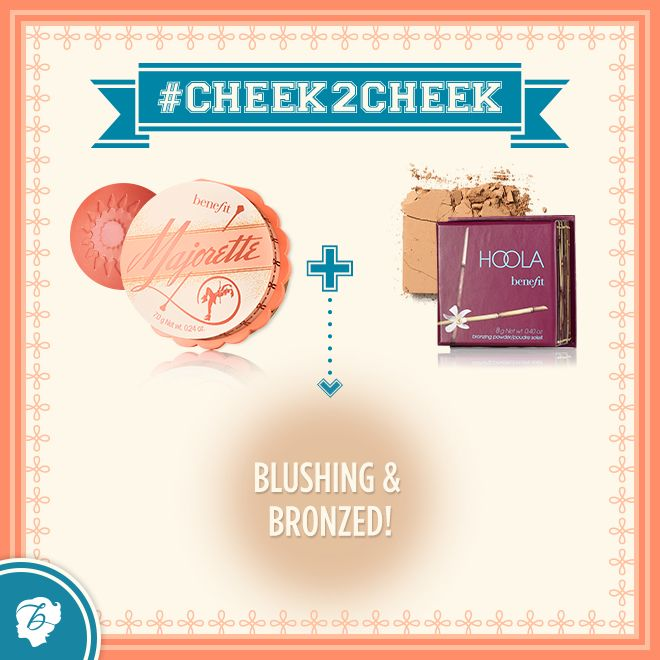 Keep that summer glow for just a little bit longer with our gorgeous matte bronzer hoola and a pop of peach! #cheek2cheek