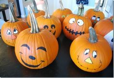 painted pumpkin faces - Google Search