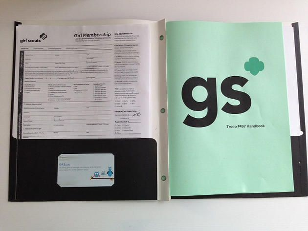 Need a parent folder for your troop meetings?  This one comes complete with a customizable troop/parent handbook and instructions on how to create the perfect folder that keeps parents occupied while you conduct your first troop meeting.  mygstroop | Blog  mygstroop | Parent Folders