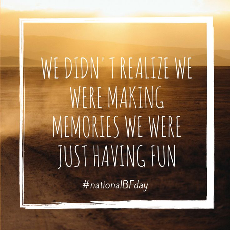 Today is national best friend day! Share these share these free quote cards to let your best friends know how much they mean to you. Use the hashtag #nationalBFday! What do you and your bestie lo...