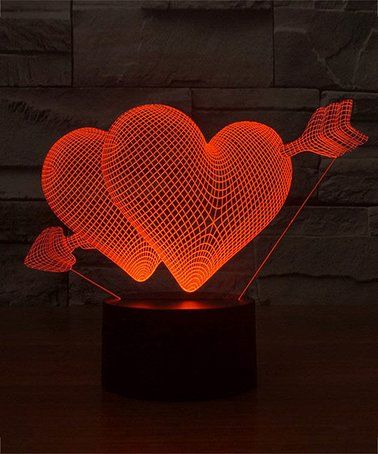 Loving this Arrow Heart 3D Optical Illusion Color-Changing LED Lamp on #zulily! #zulilyfinds