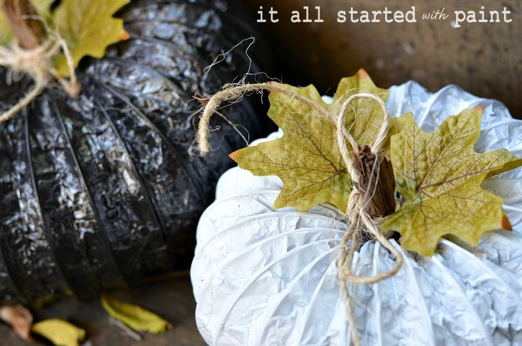 Pumpkins made from a dryer vent. Clever!
