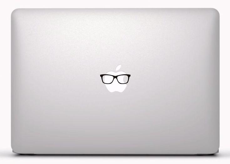 Pegatinas: Gafas de pasta Vinilo, pegatina, adhesivo para portátil, Mac, o Macbook. #vinilosportatil  #vinilosmac #vinilosmacbook