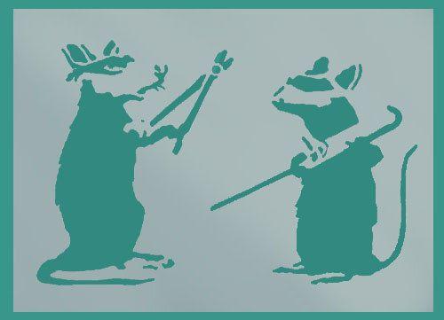 Banksy Rats stencils Burglar rats banksy rat by IdealStencils