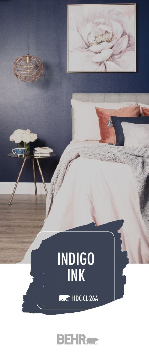 Dive Into Deep Blue With Images Dark Blue Bedrooms