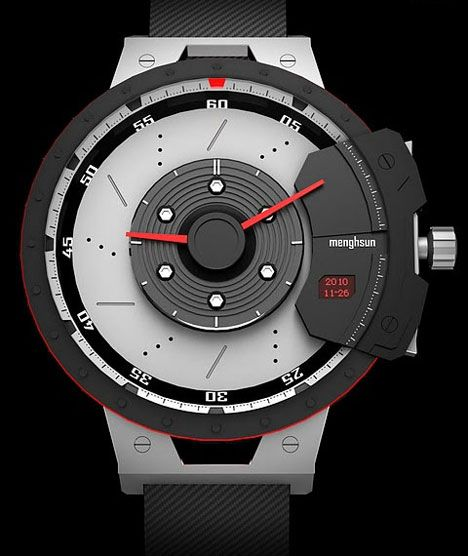 Driving Design: Digital + Analog Auto-Inspired Watch