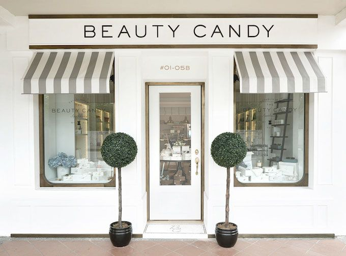 I like this store front. Chic simple and elegant for my derm office. The Beauty Candy Branding by Bravo Company