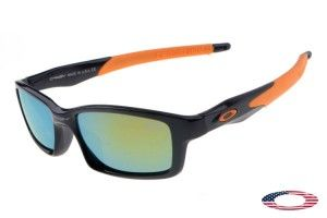 Replica Oakley Crosslink Sunglasses Orange Black / Jade Iridium