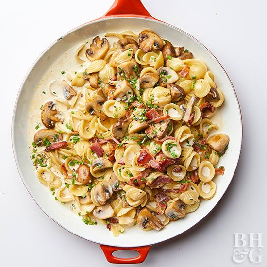 """If you're in the """"bacon makes everything better"""" camp, you'll love this creamy pasta recipe."""