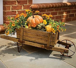 Plow & Hearth Large Wheelbarrow Planter