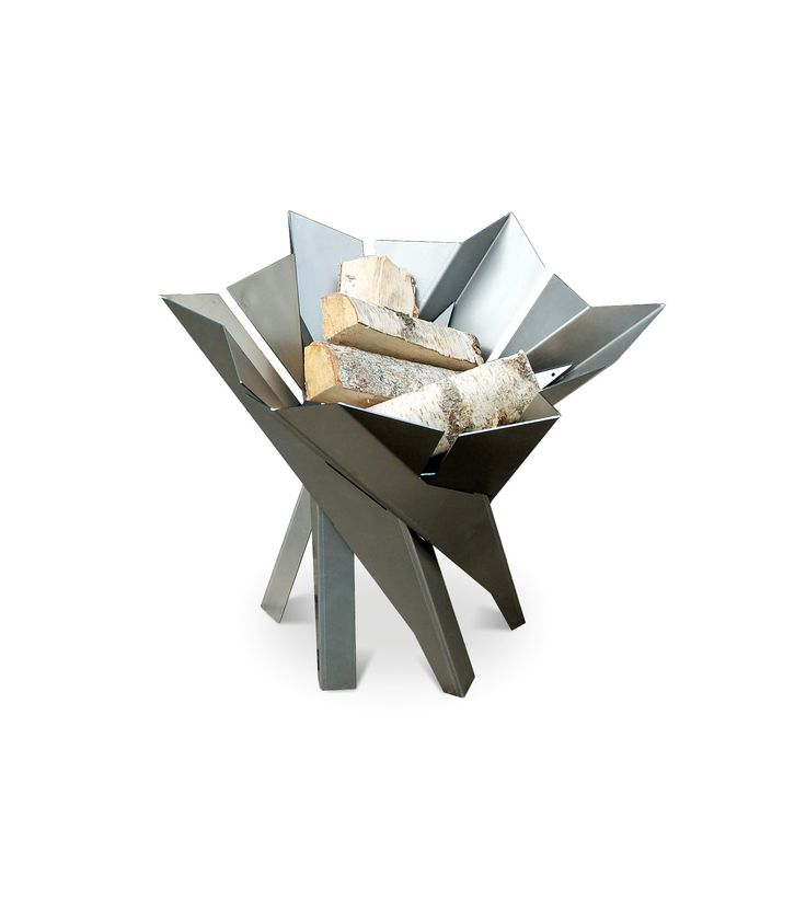 Curonian Wood Burning Fire Pit Phoenix Blossom - Stainless Steel