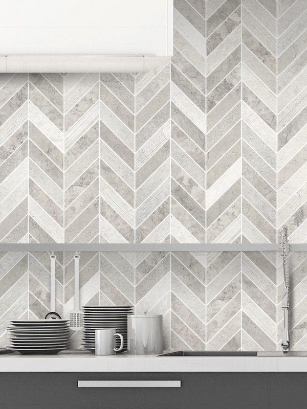 Gray Modern Limestone Chevron Backsplash Tile Backsplash Com In 2020 Tile Backsplash Glass Kitchen Wall Tile Kitchen Wall Tiles Modern