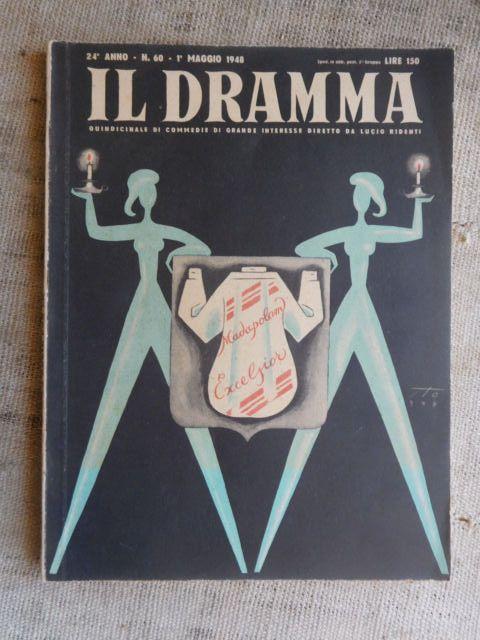 IL DRAMMA n.60  - 1  maggio 1948 rivista di commedie in Libri e riviste, Riviste, Musica, danza, teatro | eBay