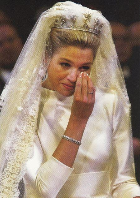 La reina Máxima de Holanda el día de su boda con el rey Guillermo Alejandro el 2 de febrero de 2002.