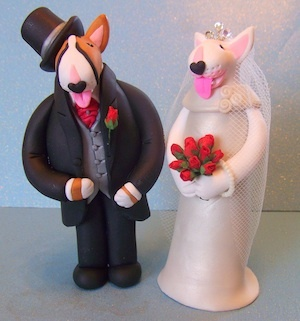 English Bull Terrier  #Wedding Cake Topper ... Wedding ideas for brides, grooms, parents & planners ... https://itunes.apple.com/us/app/the-gold-wedding-planner/id498112599?ls=1=8 … plus how to organise an entire wedding, without overspending ♥ The Gold Wedding Planner iPhone App ♥
