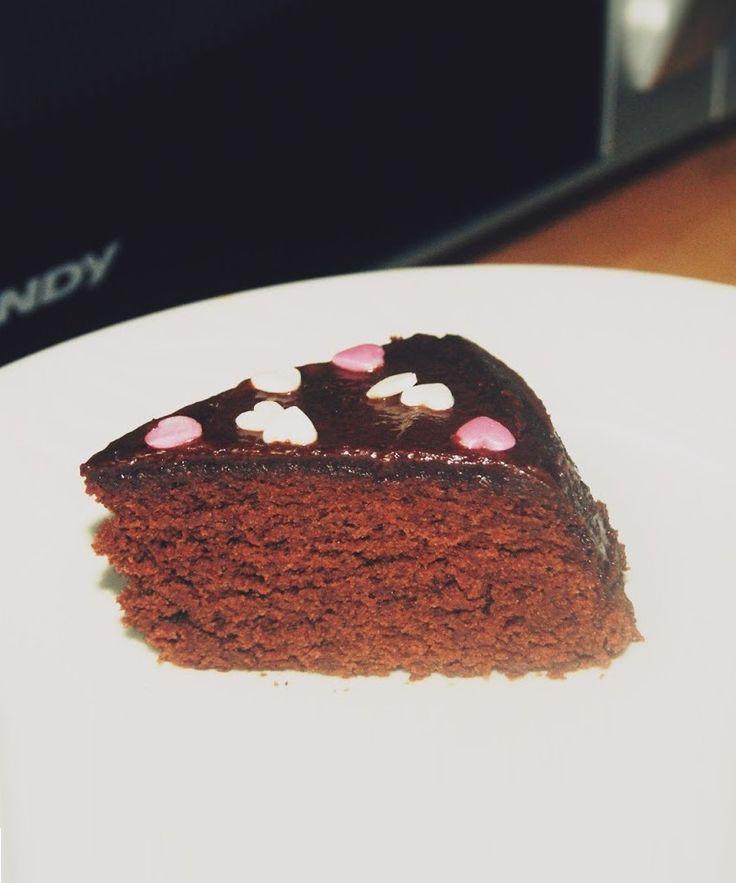 Bolo de chocolate de 5 minutos no micro-ondas