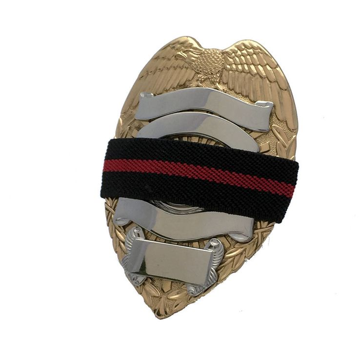 Mourning Band RL075 Red Line on Black Woven Three Quarter Inch