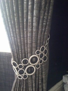 Window treatments, curtain poles and tie backs contemporary curtains