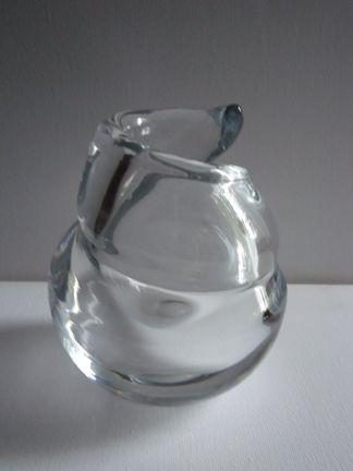 Nanny Still, Riihimäen lasi oy Finland, kristallinen Spiraali taidelasi. Signeerattu harvinaisuus.