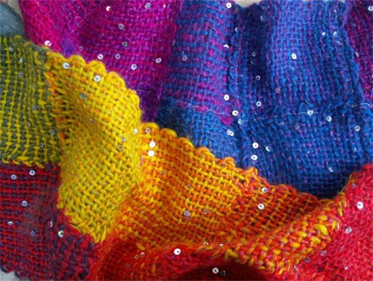 Weave-it scarf--great idea for squares from my Zoom Loom