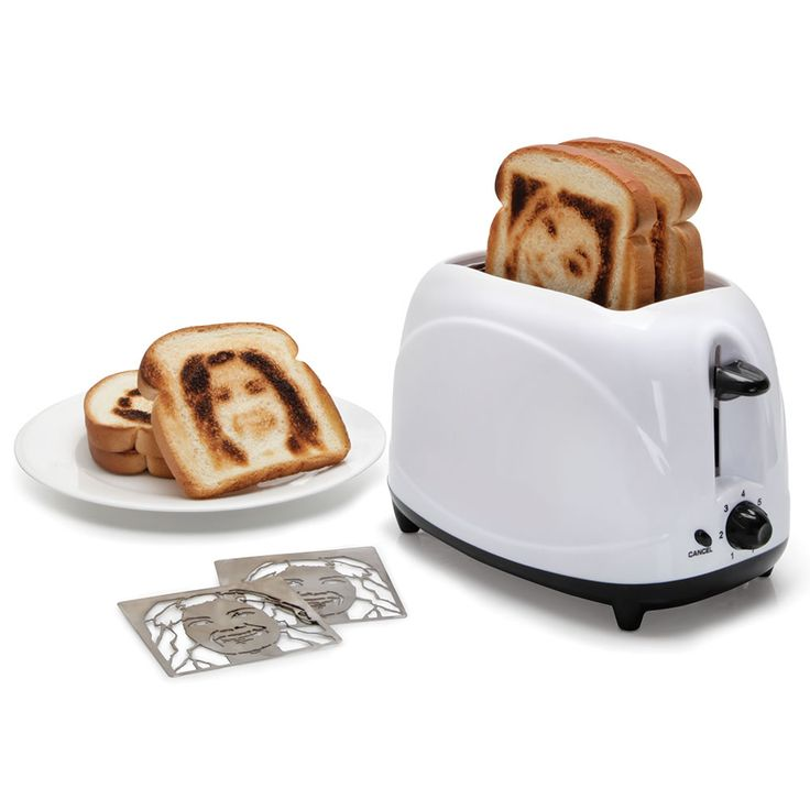 The Selfie Toaster - This is the appliance that indelibly brands its owner's image onto a slice of bread. Only available from Hammacher Schlemmer, the toaster uses custom heating inserts crafted from a submitted headshot photograph.