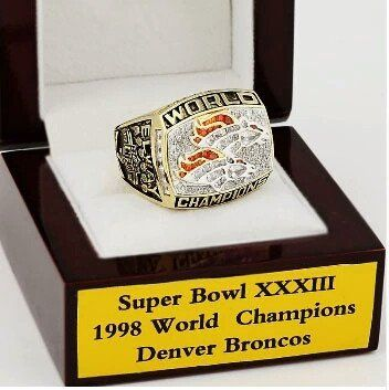1998 Denver Broncos Super Bowl Champion Ring with Display Box