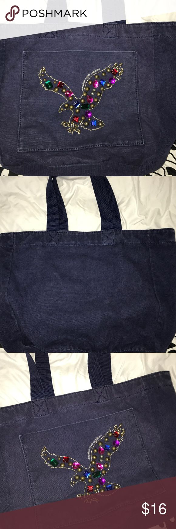 American Eagle Tote Bag Small stain on inside of bag, in good condition. American Eagle Outfitters Bags Totes