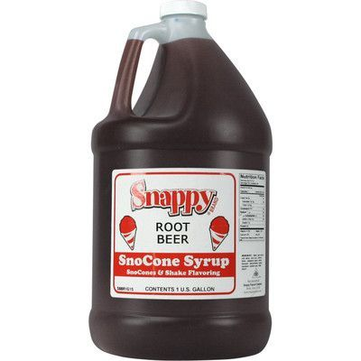 Snappy Popcorn Snow Cone Syrup Flavor: Root Beer