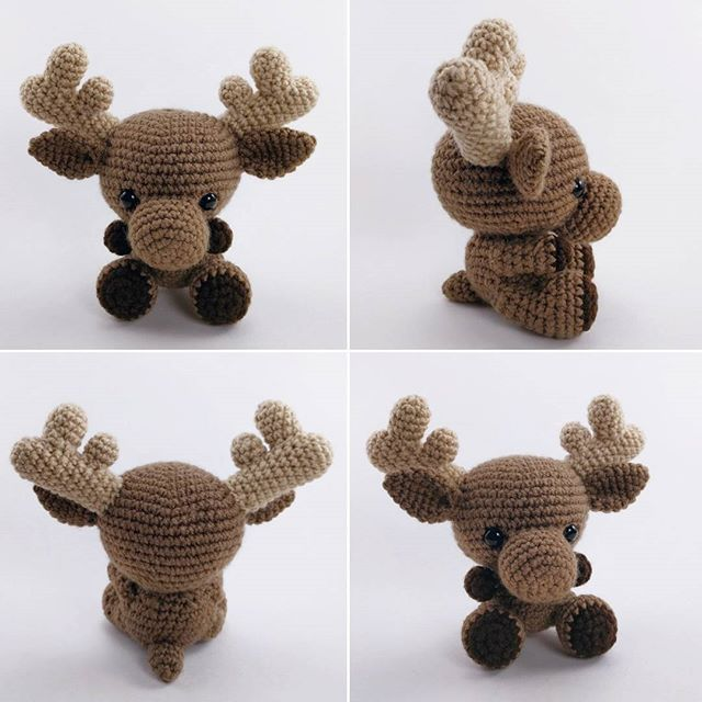 I just gave my crocheted #moose pattern a makeover and re-listed the pattern in my Etsy shop!