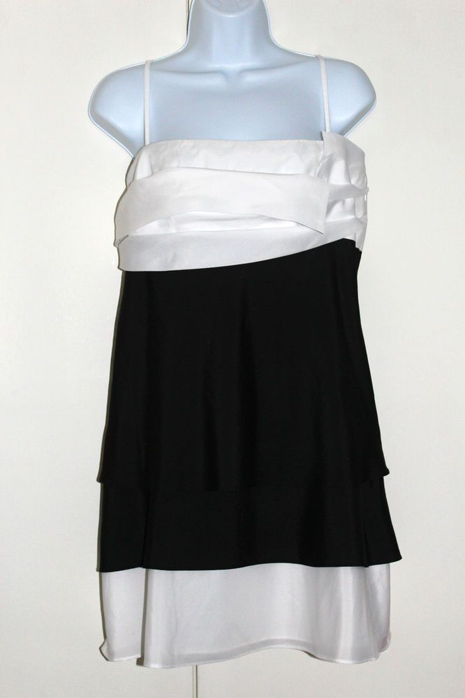 TEATRO Dress UK 14 Black and White Cocktail Cruise Party Dress BNWT