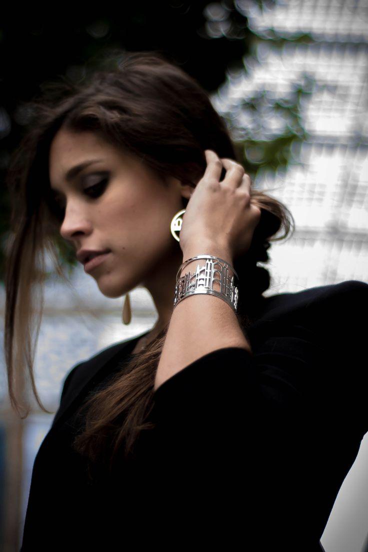 Milano skyline cuff and earrings