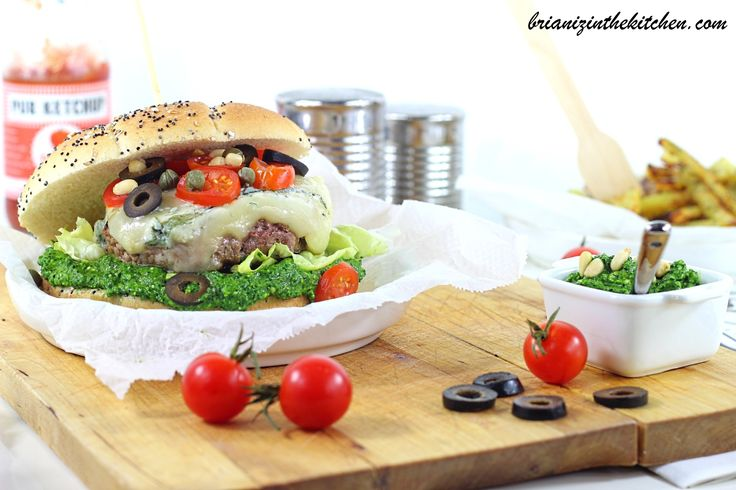 Burger Pesto D'épinards & Gorgonzola