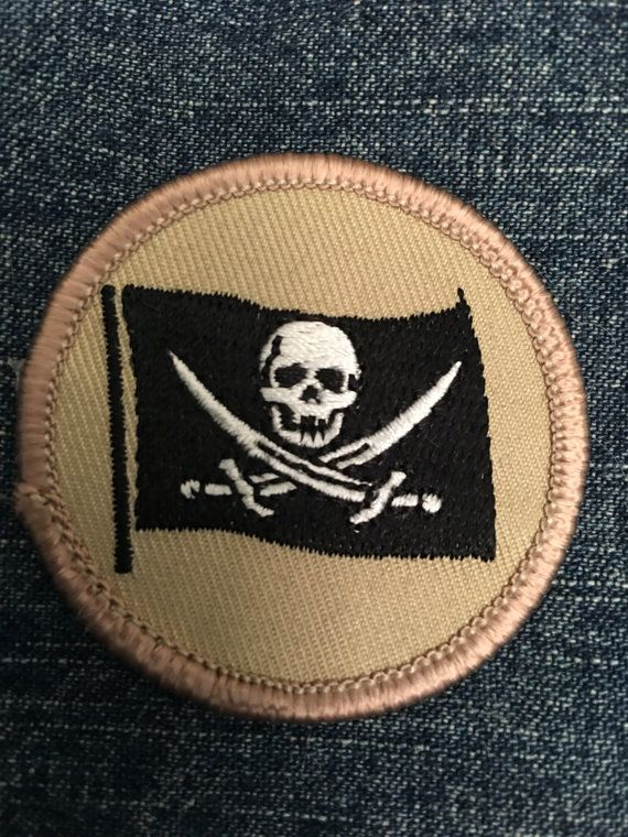 Pirate Flag Patch scurvy high seas plank by GreyguyIndustries