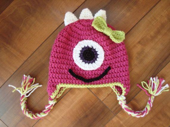 14 Best Crocheted Monster Hats Images On Pinterest Crochet Monster