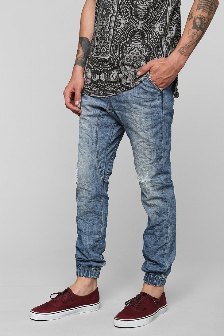 Light Blue Slim Fit Jeans Men