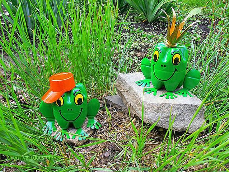 Plastic Bottle Frogs