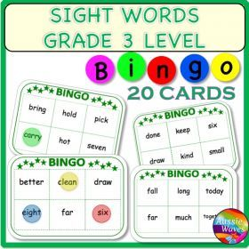 Grade / Year Level :: Primary Education :: Foundation - Year 2 :: POPULAR SIGHT WORDS LISTS GRADE 3 BINGO GAMES CARDS