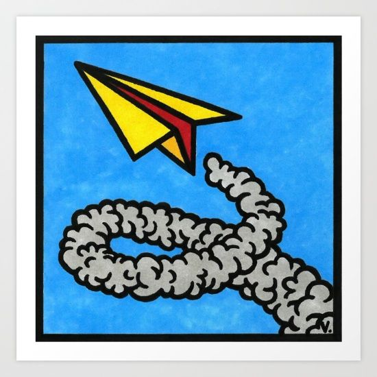 by Vernon Fourie | illo, illustration, pen and ink, copic markers, paperjet, jet, aeroplane, fly, sky, soar,