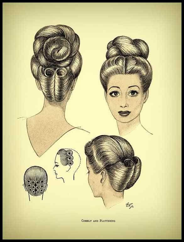 Comely And Flattering Vintage Hairstyle Inspiration Hair Pinterest Frisuren Tutorials Vintage Hairstyles Tutorial Retro Hairstyles Vintage Hairstyles