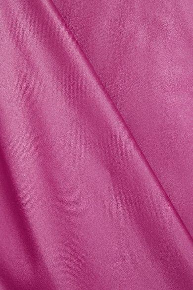 Balenciaga - Gathered Stretch-satin Top - Pink - FR36