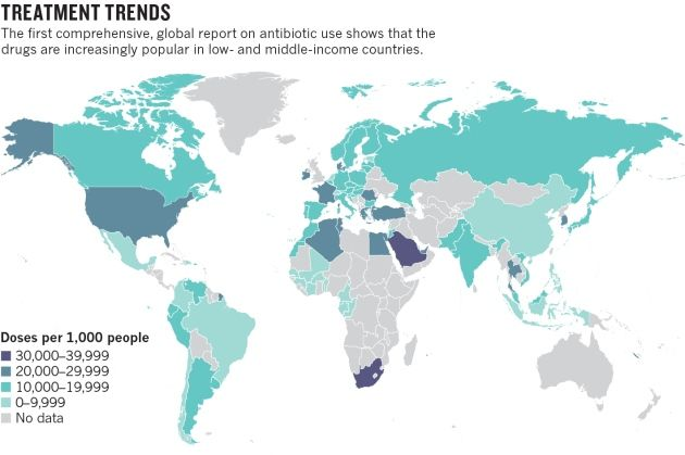 Dramatic rise seen in antibiotic use : Nature News & Comment