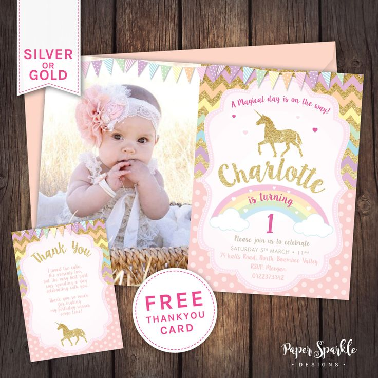 1000+ Ideas About First Birthday Invitations On Pinterest