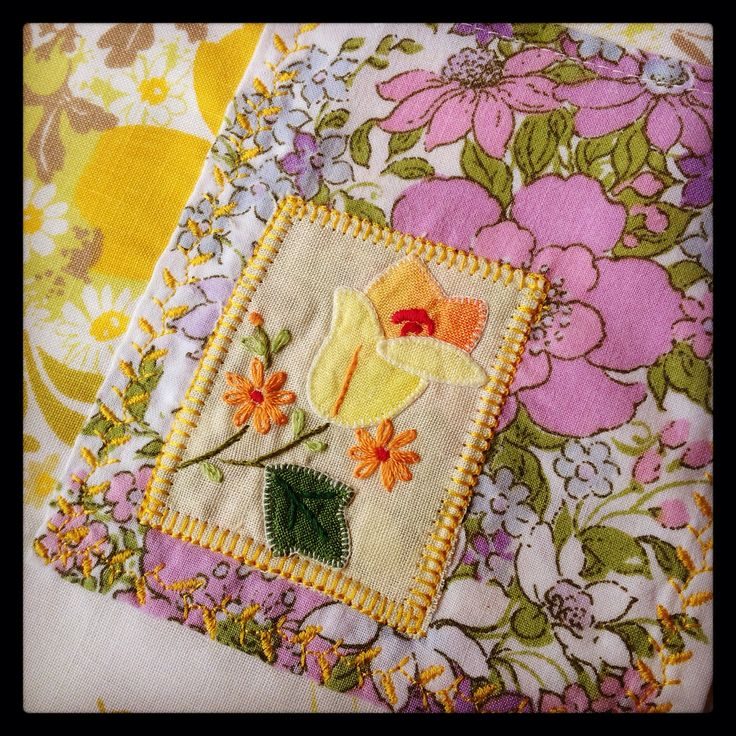 Vintage fabric and embroidery!