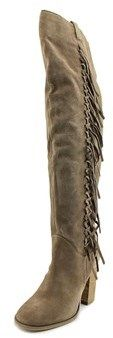 Carlos by Carlos Santana Garrett Women Leather Brown Over The Knee Boot.